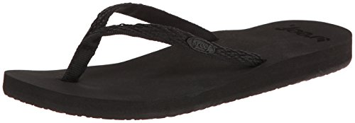 Reef Women's Ginger Drift Flip Flop,Black/Black,8 M US