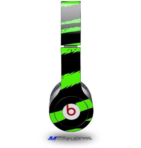 Zebra Green Decal Style Skin (Fits Beats Solo Hd Headphones - Headphones Not Included)