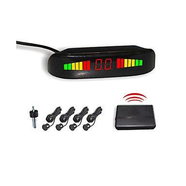 4 Wireless Radar Parking Sensor System- Led Display And Buzzer Alarm (White,Black,Silver)