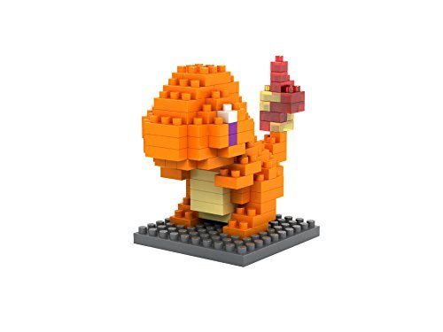 GRHOSE LOZ Diamond Blocks Nanoblock Pokemon Charmander Educational Toy 110pcs