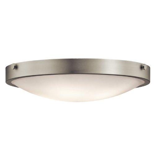 Kichler Lighting 42276NI Lytham 4-Light Flush Mount, Brushed Nickel Finish with Satin Etched White Glass