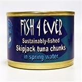 (Pack of 15) Fish4Ever - Skipjack Tuna Chunks in Spring 160 g