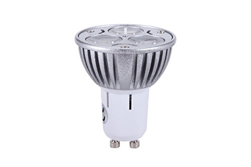 Pack Of 4, Top Gu10 6W Led Light, 40 Watt Halogen Bulb Equivalent, Warm White 2700K-3000K, Downlight Spot Lamp, Energy Saving, 320Lm, 40 Degree Beam Angle, Non-Dimmable, Effect Of Philips, 110V 120V - Gu10 6W=40W Warm White