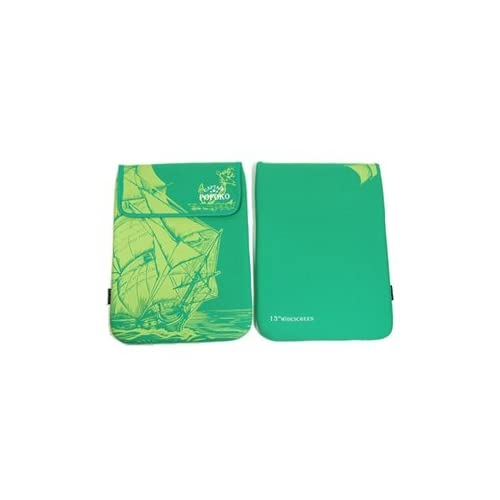 Cosmos Cotton/Lycra 13.3 Inch and 13 inch Green Laptop notebook computer case/bag/sleeve