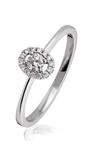 0.15 cts G/VS2 CERTIFIED DIAMOND RING - 18CT WHITE GOLD