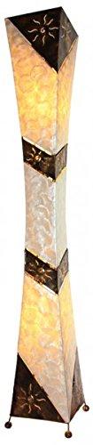 Arian lampada decorativa in metallo e Capiz, lampada a stelo in 2misure disponibili, Metallo, marrone, 150 cm