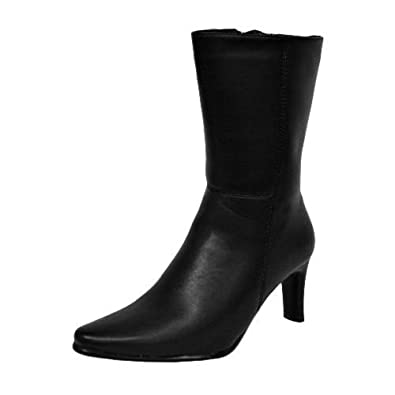 Luxury Divas Black Calf Length Women's Boots Size 8