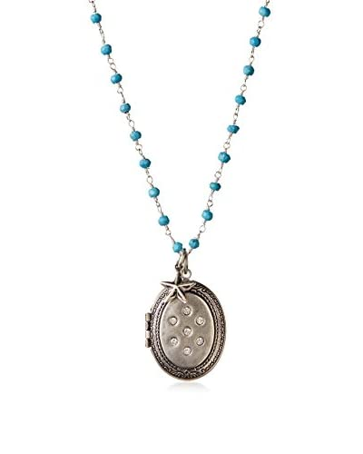 Alisa Michelle Oval Locket with Crystal Stones As You See