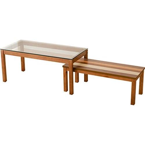 エムール ネストテーブル(大小2個セット)「バオム」 木製