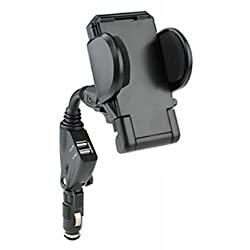 2010kharido Car Charger/Mount with Dual USB Ports for Smart Phone up to 6.3