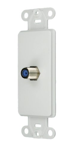 Leviton 40681-W F connector, Decora Insert, White