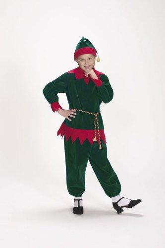 Christmas Elf Velvet Suit Child Costume Size 4-8 (Velvet Elf Suit Costume)