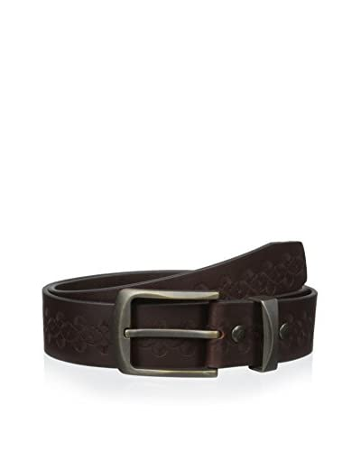 Maker & Company Men's Embossed Floral Pattern Belt