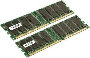 2GB Kit (2 x 1GB) DDR PC2700 Unbuffered Non-ECC 184-PIN DIMM - CT2KIT12864Z335