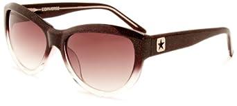 Converse Women's Wavelength Cateye Sunglasses, Black Glitter