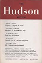 The Hudson Review (Autumn 2014) Volume Lxvii…