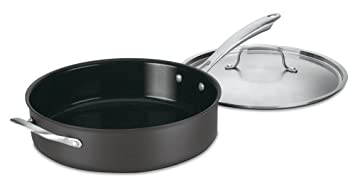 Cuisinart Hard-Anodized Nonstick 5.5 Quart Saute Pan with Handle and Cover $34.94