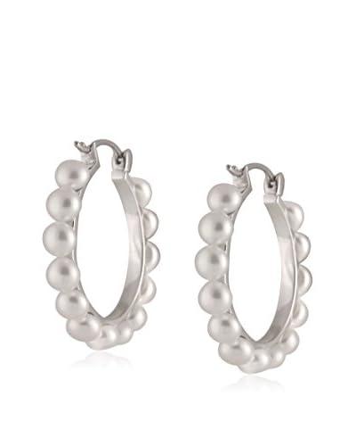 Splendid 4-4.5mm White Pearl Hoop Earrings