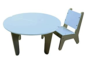 BB2 Table & Chair Set in Ozone Blue from Not Neutral