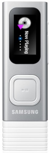 Samsung YP-U7 MP3-Player 4GB (MP3, OGG, WMA, FLAC, 3,5mm Klinkenstecker, USB 2.0) silber