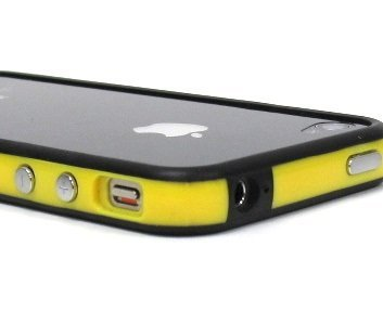 Yellow and Black Premium Bumper Case for Apple 