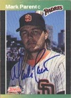 Mark Parent San Diego Padres 1989 Donruss Autographed Hand Signed Trading Card. by Hall+of+Fame+Memorabilia
