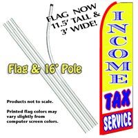 Income Tax Service Feather Banner Flag Kit (Flag & Pole)