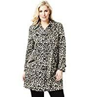 Plus Easycare Shower Resistant Animal Print Belted Mac