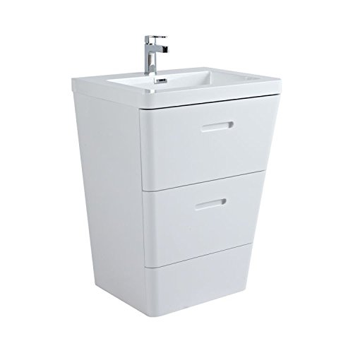 Phoenix Megan Floor Standing Unit & Basin - White FG60FW