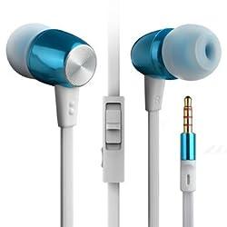 BYZ K460 Universal Metal Bass HIFI In-Ear Earphone Headset With MIC For Smartphone - Blue