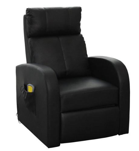 Massagesessel Fernsehsessel Relaxsessel Massage TV Sessel mit Heizung schwarz