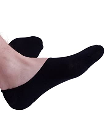 Jays Sport Men's Cotton Boat Shoe Socks, Lge Silicon Heel Grip, 3 Pack (Small, Black)