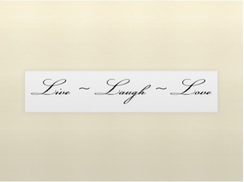 Live Laugh Love Vinyl Wall Quotes Stickers Sayings Home