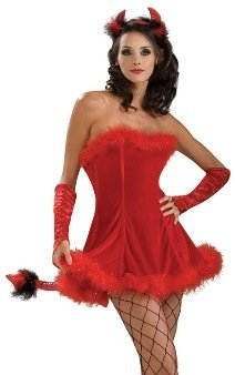 Sexy Adult Womens Halloween Costumes Short Red