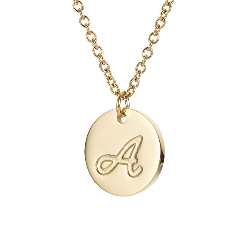 HUAN XUN Initial Necklace Best Friend Necklaces for Girls Stainless Steel, 18″