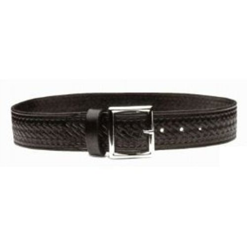 HWC POLICE FIRE EMT EMS SECURITY BLACK LEATHER UNIFORM DUTY GARRISON BELT BASKETWEAVE STYLE, MADE IN USA, SIZE 36""