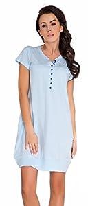 dn-nightwear - Camisón, tm. 5009, luz azul, tamaño m