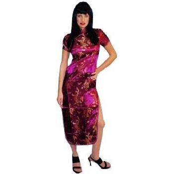 Satin China Doll Mandrin Costume Dress Adult Standard Up to Size 12