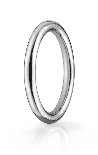 14K White Gold, 2.5mm Comfort-Fit High Polished Round Carved Band (sz 11)