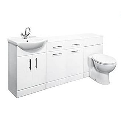 1750mm Combination 650mm Vanity inc WC & Storage Units