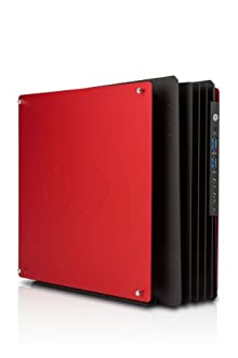 IN WIN PCケース Mini-ITX 180W電源付属 H-Frame Mini Red IW-CA02ITX/R