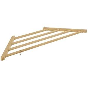 お部屋の空いているスペースを有効活用【木製コーナーハンガー】