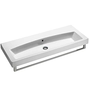 GSI GSI 752311-Two Hole-637509878597 Quality Ceramic Bathroom Sink, White
