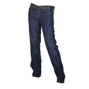 Overlap OVP-CRYSTAL-RAW26 Jeans de Moto Crystal Raw Bleu Taille 26