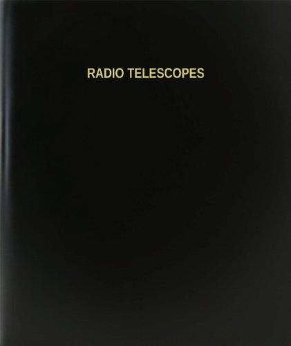 "Bookfactory® Radio Telescopes Log Book / Journal / Logbook - 120 Page, 8.5""X11"", Black Hardbound (Xlog-120-7Cs-A-L-Black(Radio Telescopes Log Book))"
