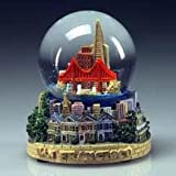 San Francisco Golden Gate Bridge Victorian Poly Water Snow Globe 4""