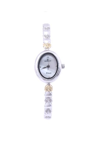 Sovereign Sterling Silver and 9ct Yellow Gold Ladies 1/4ct Diamond Hearts watch WS0280