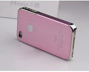 iPhone4s/4 アルミハードケース ピンク×シルバー 各色有り