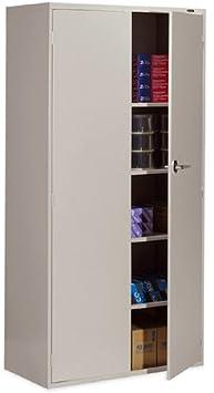Global 9336-S72L 2 Door Office Storage Cabinet Black