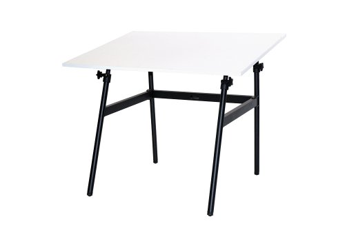 Martin Berkley Drafting-Art Folding Table, Black with WhiteTop, 30-Inch by 42-Inch Surface